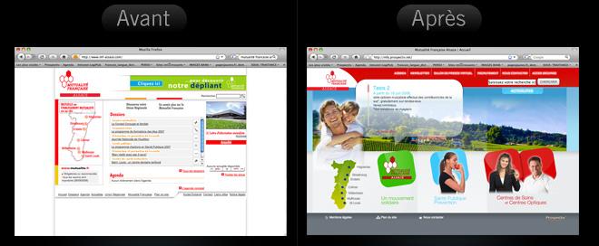 Refonte du site internet de la Mutualité Française Alsace.
