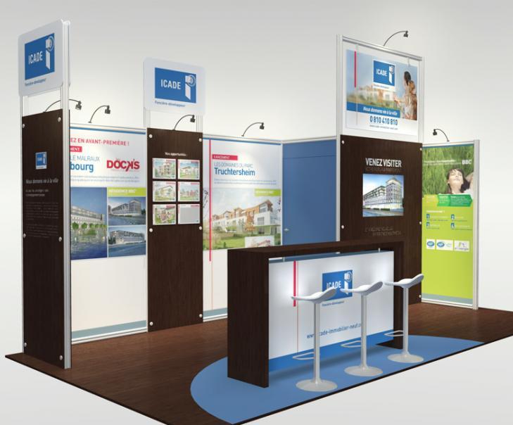 Agence de communication en Alsace - Création du stand ICADE
