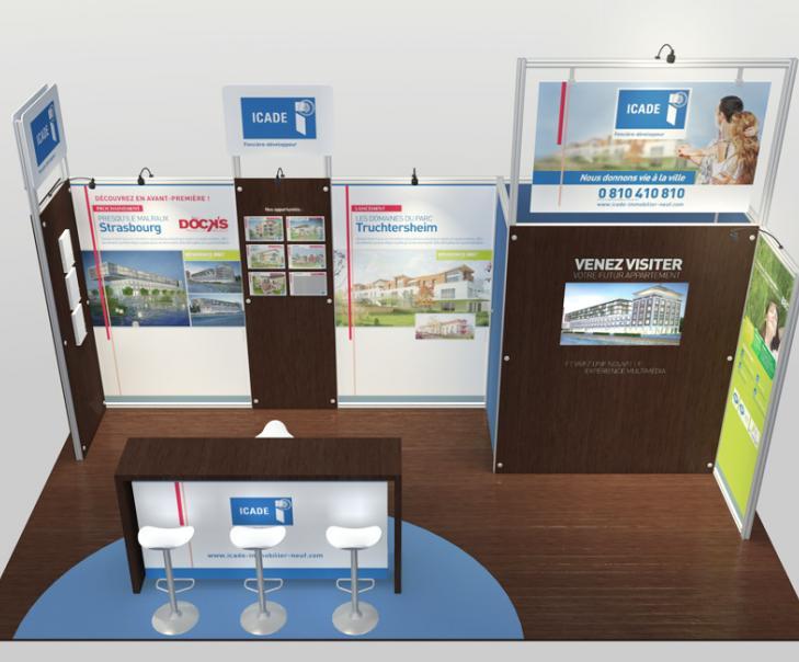 Agence de communication en Alsace - Création du stand ICADE 2