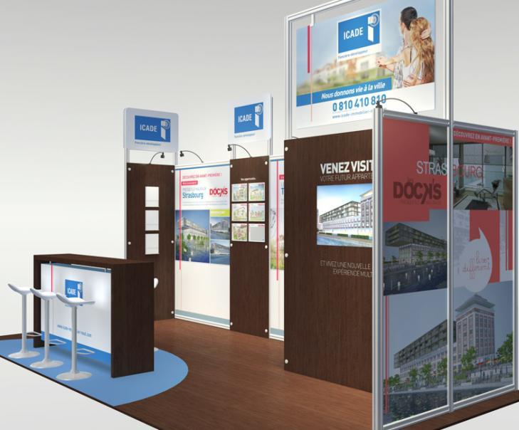 Agence de communication en Alsace - Création du stand ICADE 3
