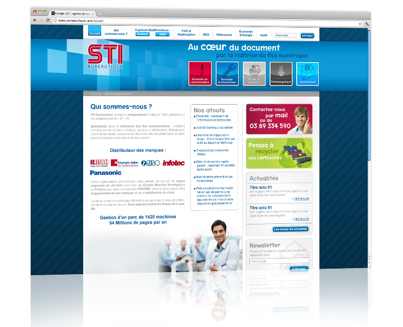 Création et hébergement du site internet vitrine Mulhouse 2