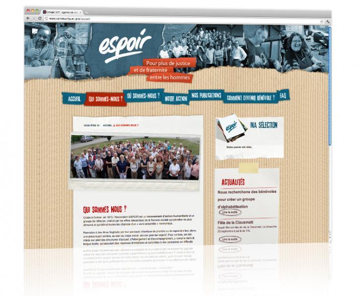 PROSPECTIV* - Agence communication - web agency Alsace - Conception et hébergement du site internet vitrine Espoir