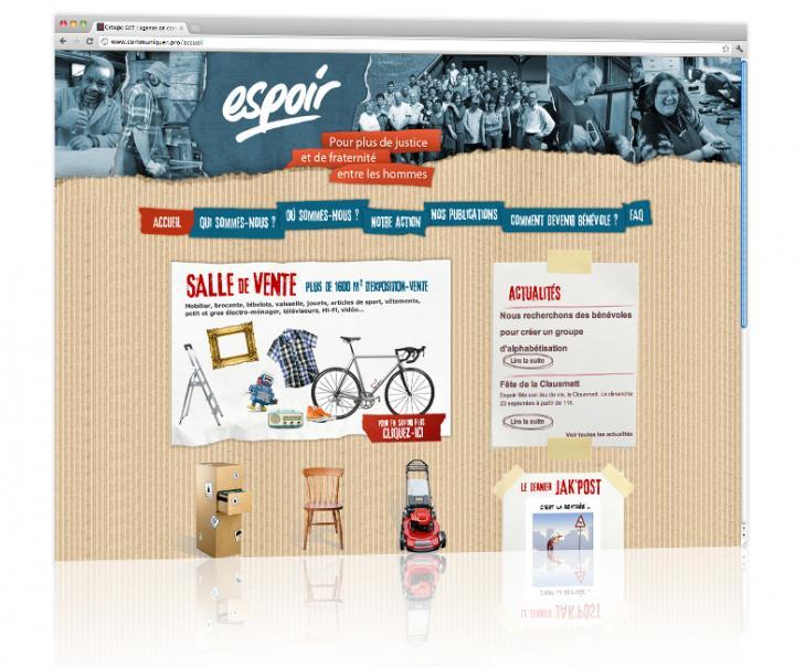 PROSPECTIV* - Agence communication - web agency Alsace - Conception et hébergement du site internet vitrine Espoir 2