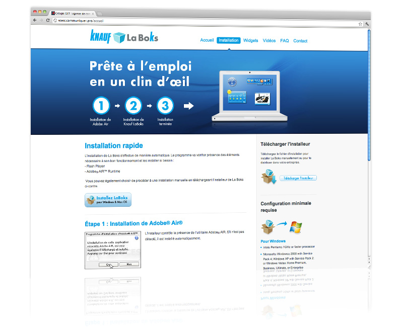 Webdesign du site internet La Boks 3