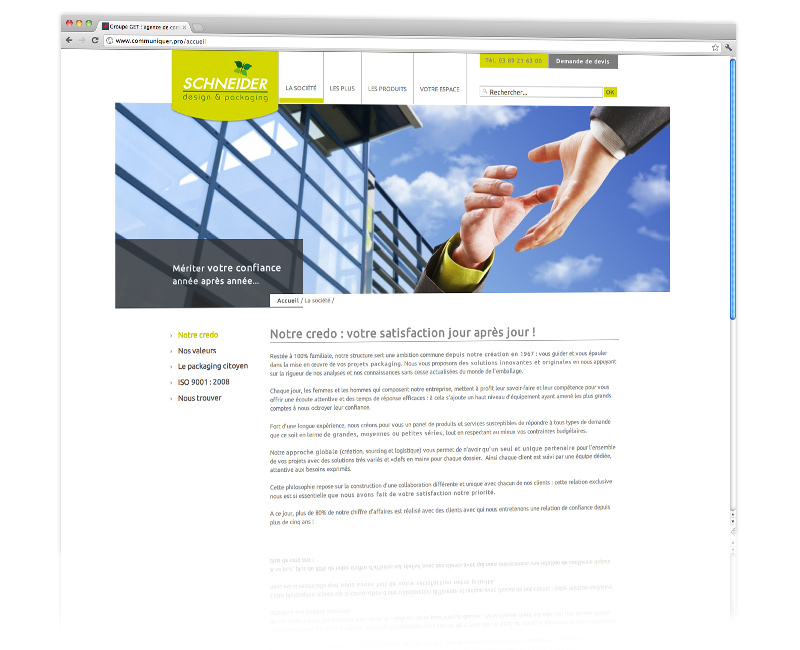 Agence web Colmar - Création et hébergement du site internet vitrine 4