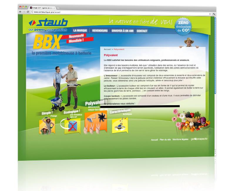 Conception et hébergement du site internet dédié au lancement d'un nouveau produit