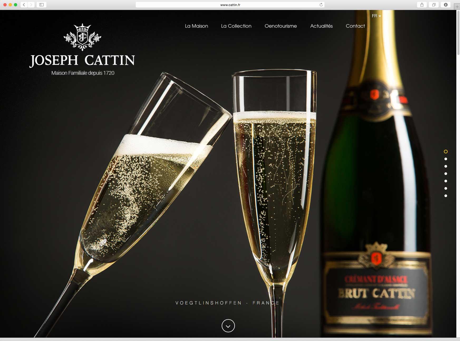Création et hébergement du site internet vitrine de la marque