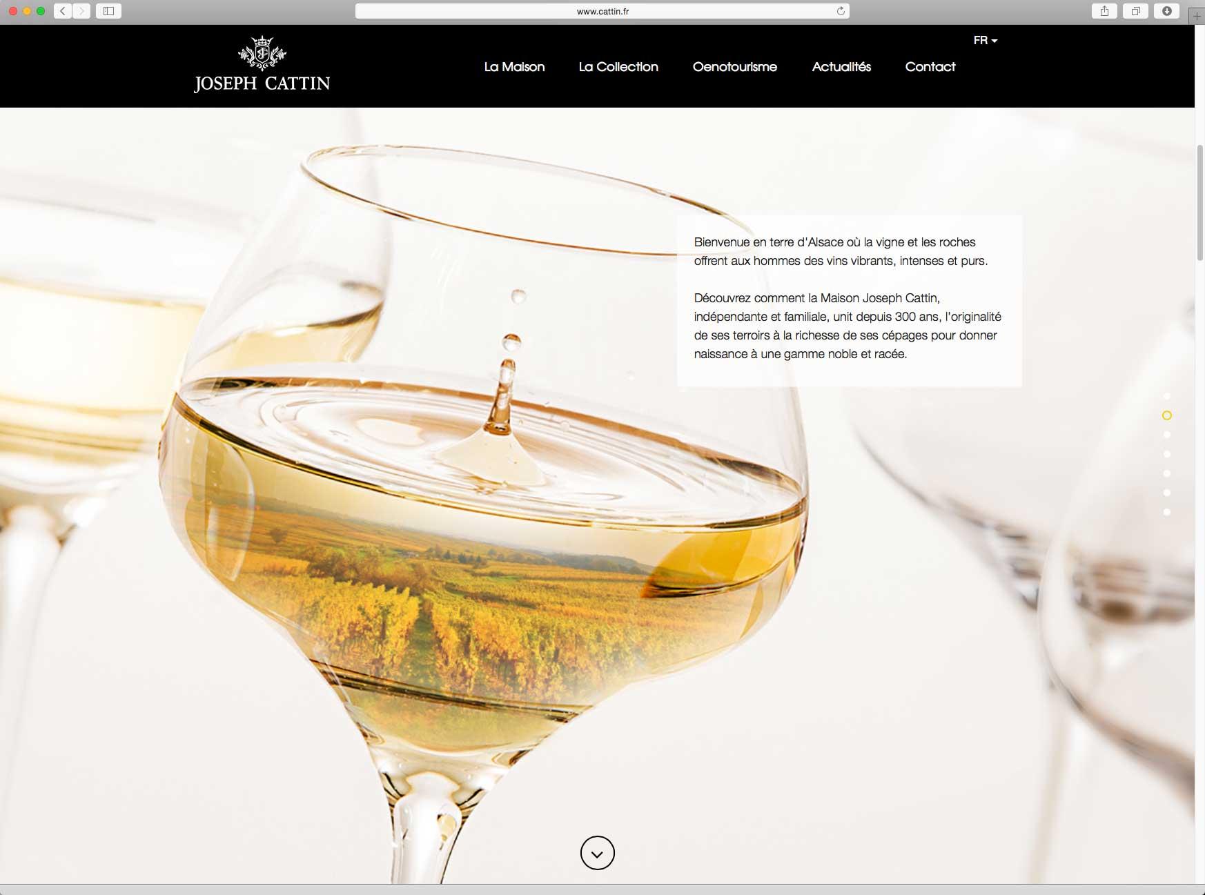 Création et hébergement du site internet vitrine de la marque 3