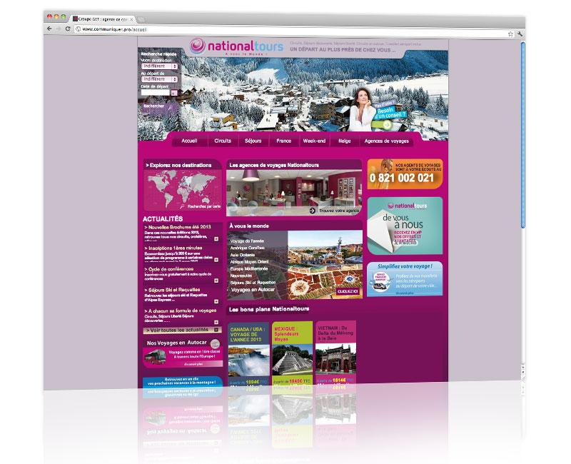 Agence web Alsace - Création du design du site Nationaltours