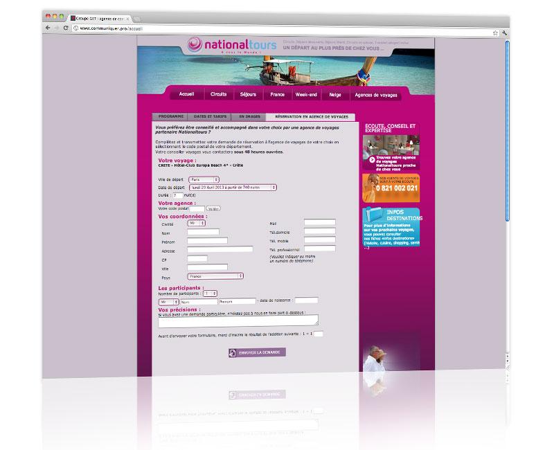 Agence web Alsace - Création du design du site Nationaltours 3