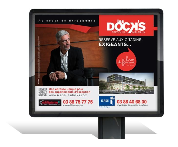 Campagne de communication les DOCK'S Strasbourg - Affichage