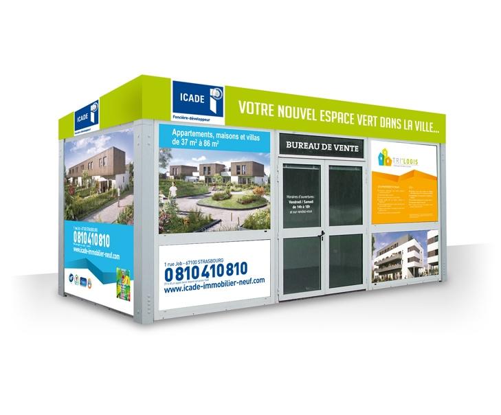 Bulle de vente pour le programme immobilier Trilogis à Colmar