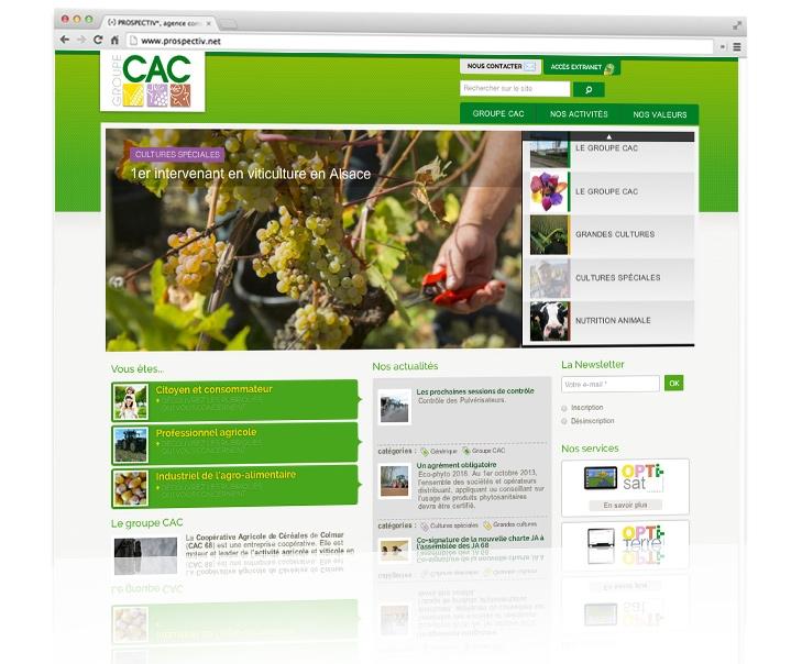 création du site internet de CAC 68 2