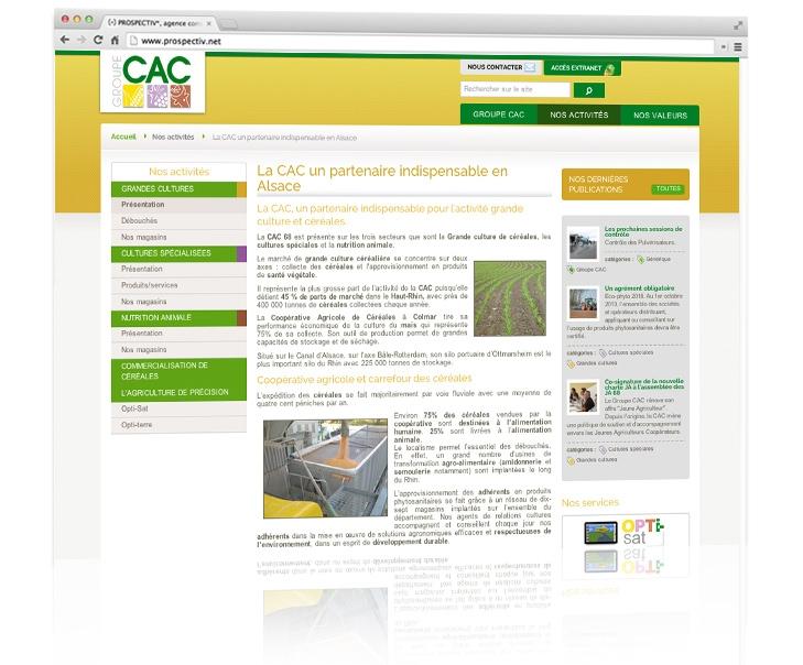 création du site internet de CAC 68 3