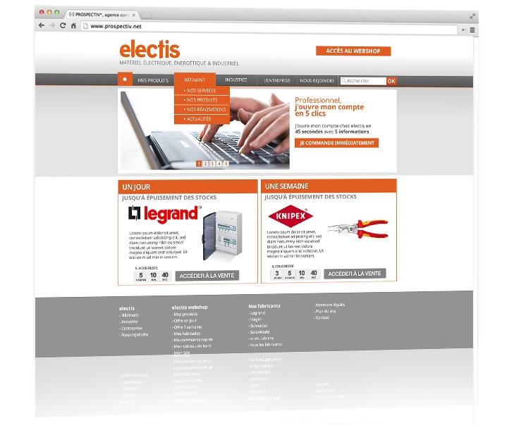 Création du site internet coporate Electis