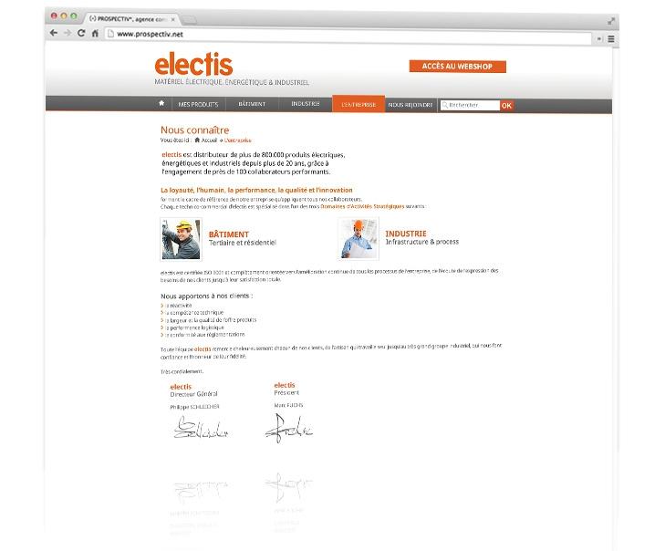 Création du site internet coporate Electis 2