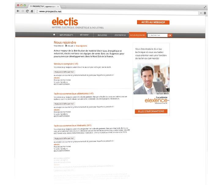 Création du site internet coporate Electis 3