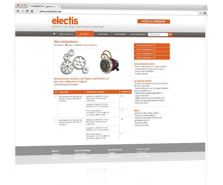 Création du site internet coporate Electis 4
