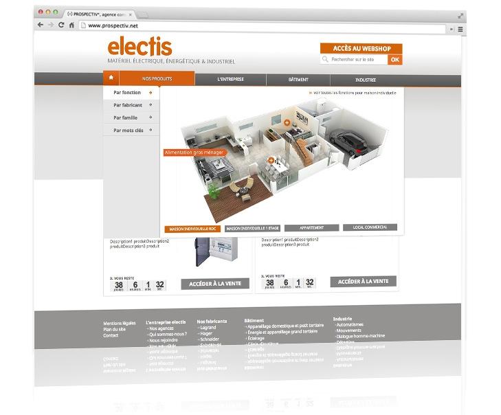 Dessign du site e-commerce Electis