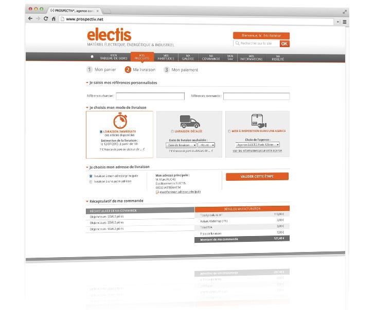 Dessign du site e-commerce Electis 2