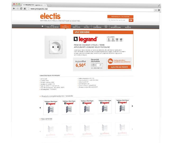 Dessign du site e-commerce Electis 3