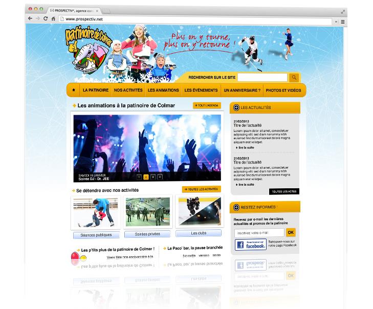 Site internet de la patinoire de colmar