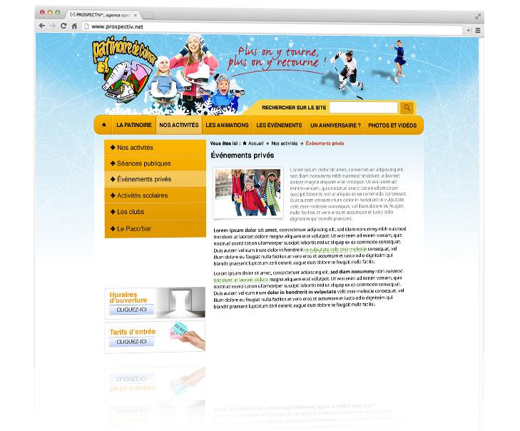 Site internet de la patinoire de colmar 2