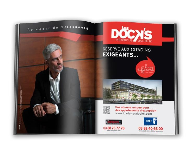 Campagne de communication les DOCK'S Strasbourg - Presse