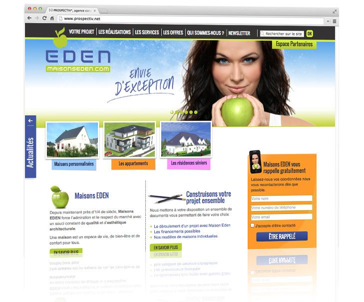 Création du site internet MAISONS EDEN