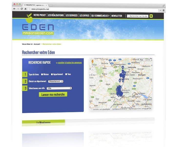 Création du site internet MAISONS EDEN 2