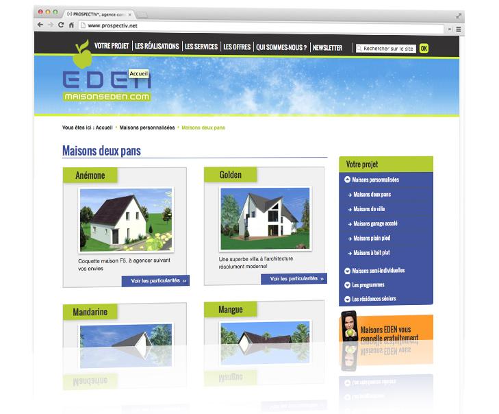 Création du site internet MAISONS EDEN 3