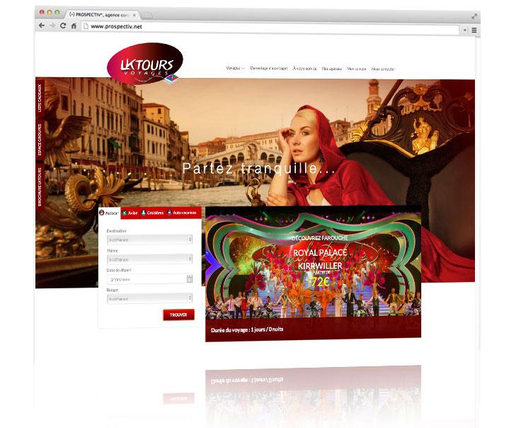 PROSPECTIV* - Création site internet Alsace - LKTOURS