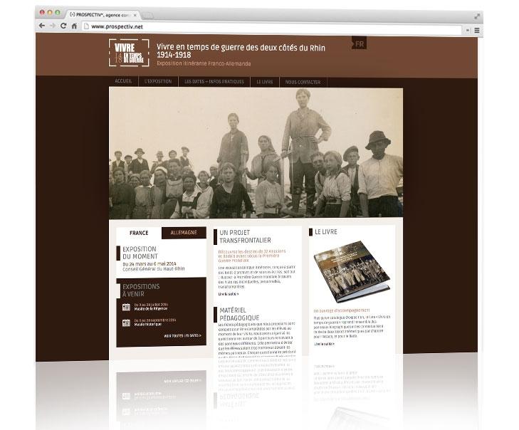 Création site internet responsive Alsace - www.vivre-en-temps-de-guerre-1914-1918.fr 3