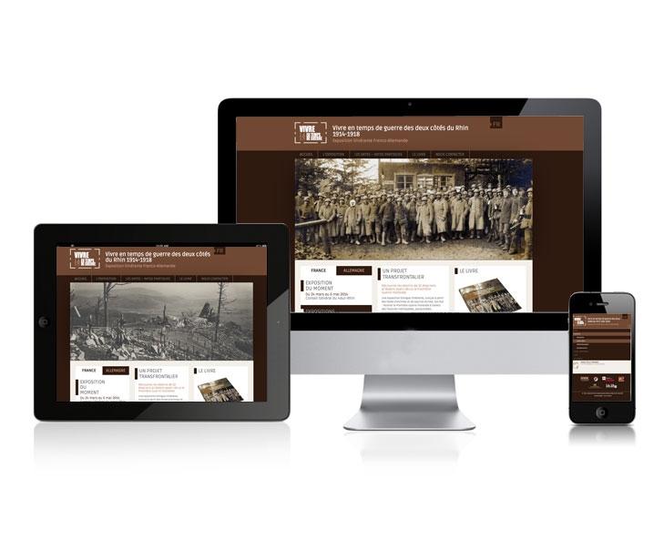 Création site internet responsive Alsace - www.vivre-en-temps-de-guerre-1914-1918.fr