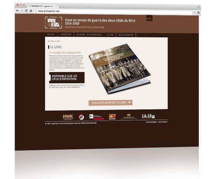 Création site internet responsive Alsace - www.vivre-en-temps-de-guerre-1914-1918.fr 2