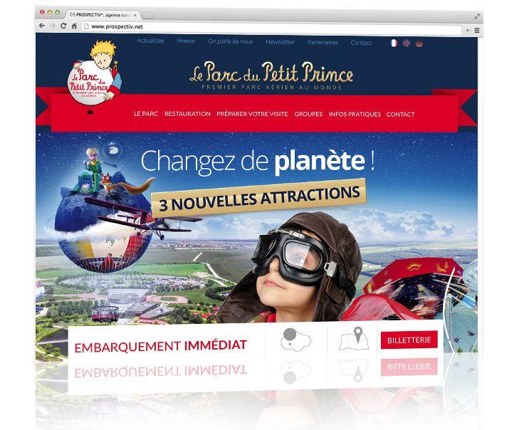 Parc du Petit Prince - Création site internet 1