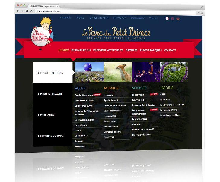 Parc du Petit Prince - Création site internet 2