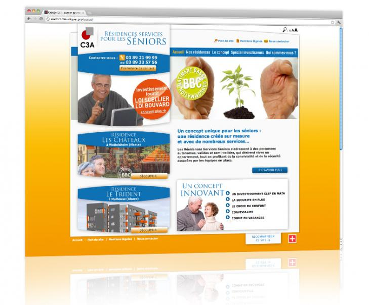 Création et hébergement du site internet de présentation d'un programme immobilier