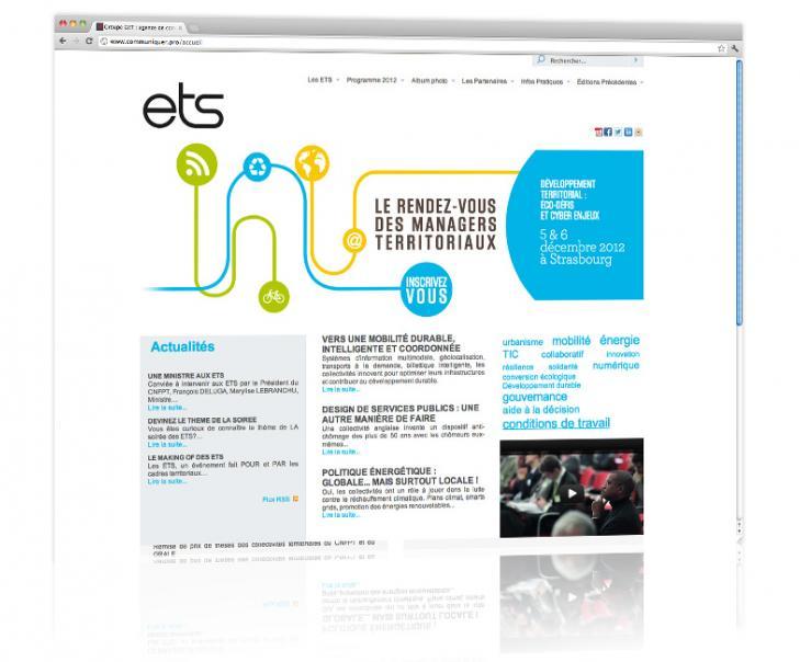 PROSPECTIV* - Agence communication - web agency Alsace - Refonte du site internet des Entretiens territoriaux de Strasbourg