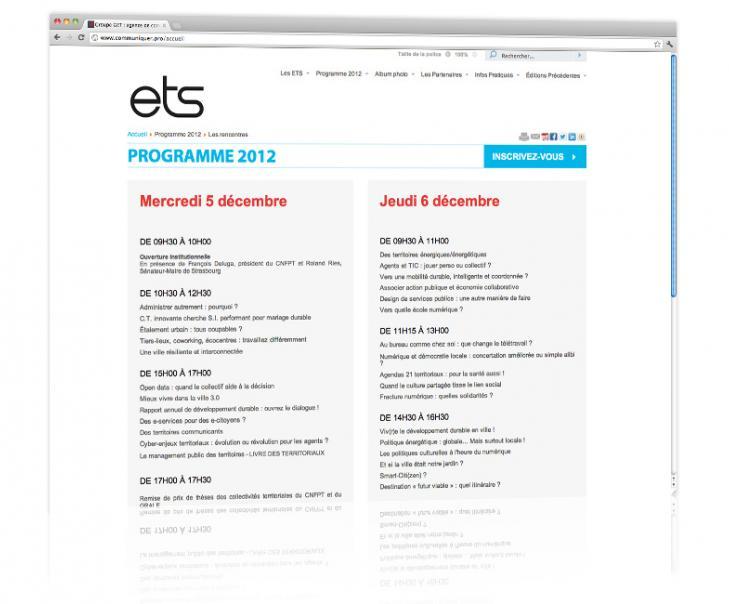 PROSPECTIV* - Agence communication - web agency Alsace - Refonte du site internet des Entretiens territoriaux de Strasbourg 2