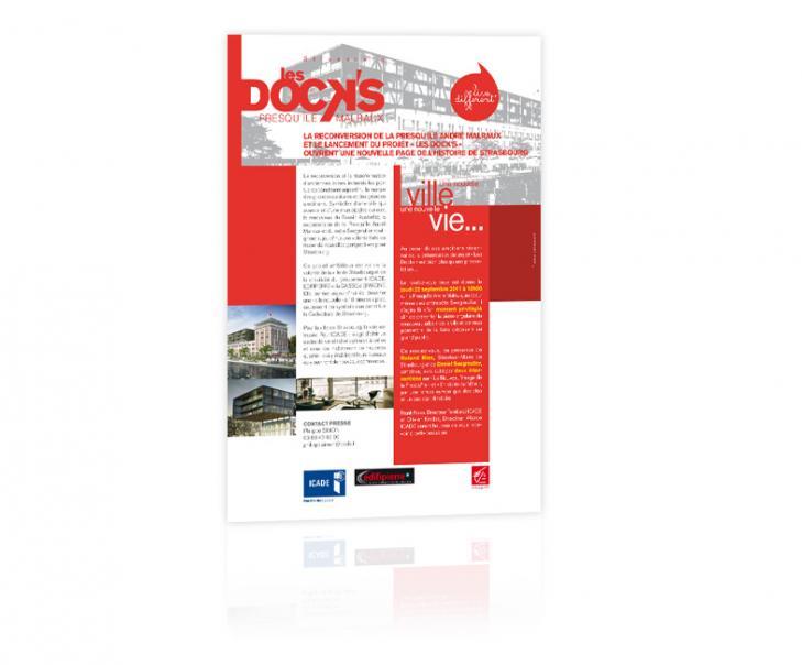 Création graphique lancement programme immobilier communiqué de presse