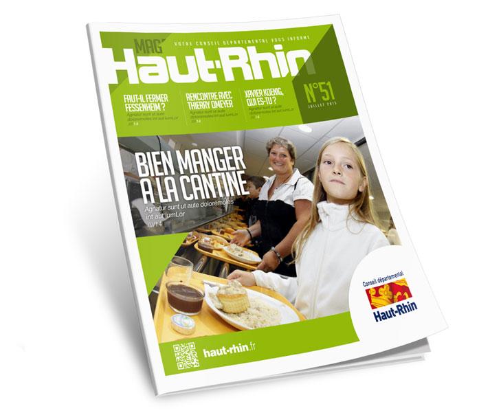 Création graphique identité visuelle magazine du haut-rhin