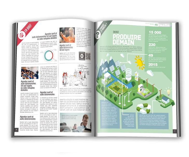 Création graphique identité visuelle magazine du haut-rhin 3