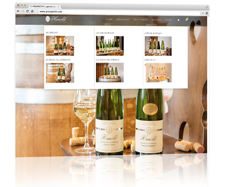 création site internet e-commerce hunold 2