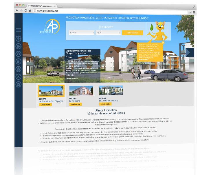 Création site internet immobilier 1