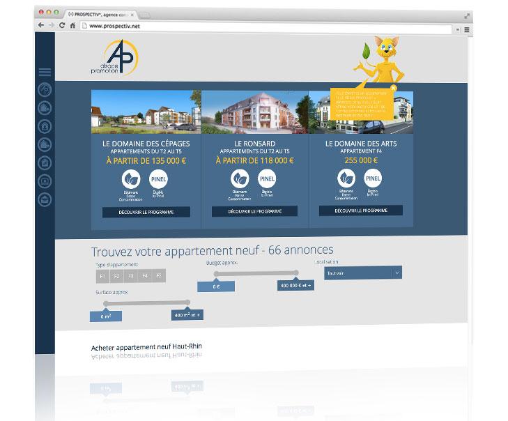 Création site internet immobilier 2