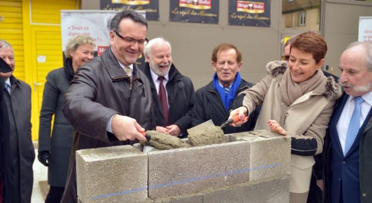 Pose de la première pierre chez Metzger Muller