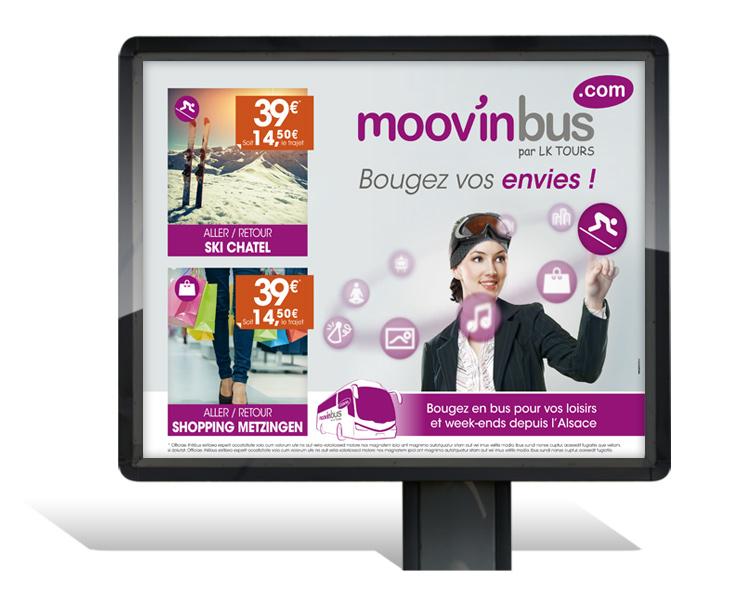 Moovinbus création campagne affichage