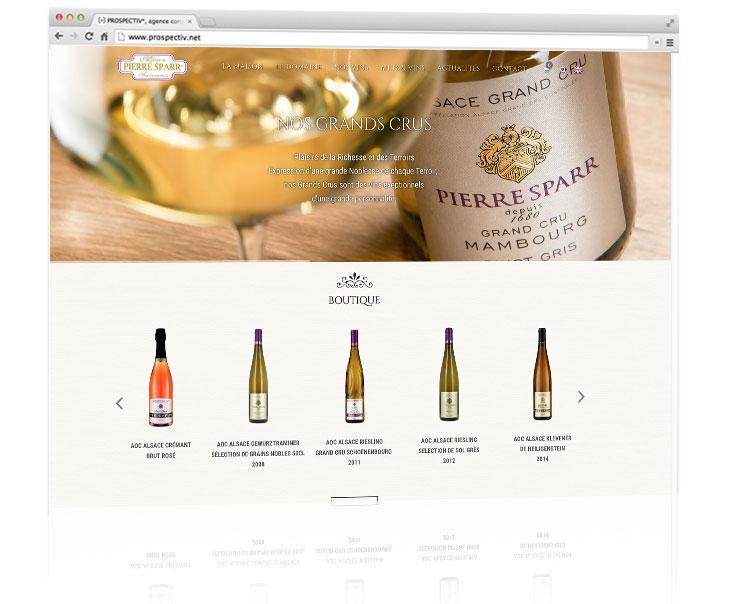 Site e-commerce Pierre Sparr 1