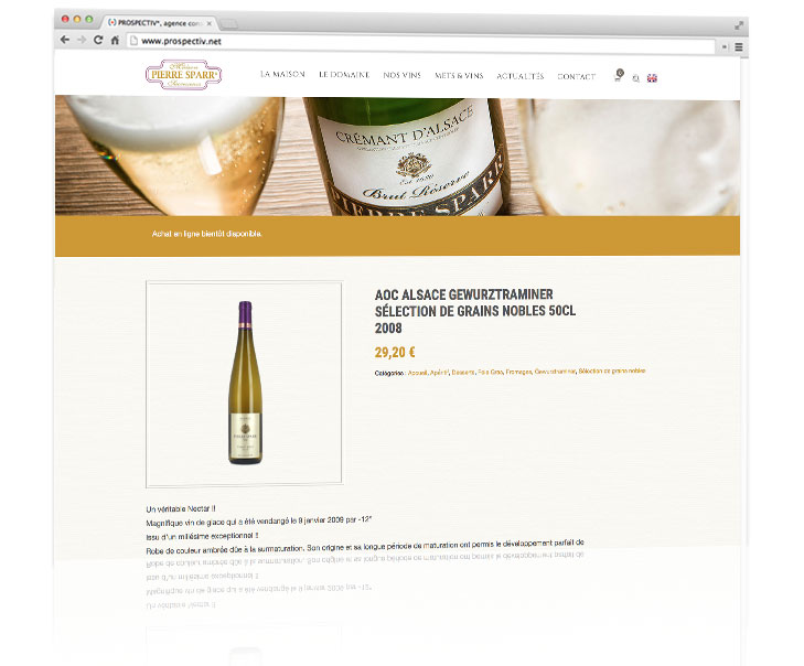 Site e-commerce Pierre Sparr 2